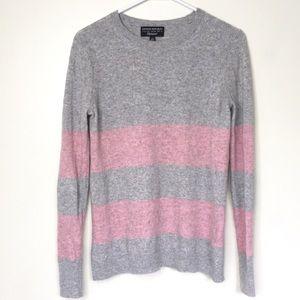 🍌Banana Republic Filpucci Pink and Gray Sweater